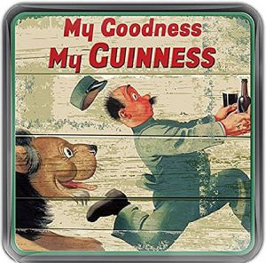 Guinness Zookeeper Lion cork backed drinks coaster  100mm x 100mm (sg)
